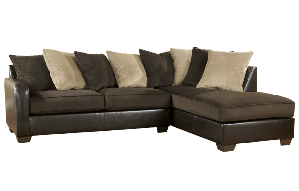 Gemini Chocolate Collection 2 pc Sectional Ashley - Furniture Expo ...