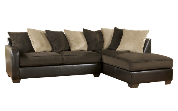 Ashley Furniture Sectional Chocolate gemini chocolate collection 2 pc sectional ashley - furniture expo