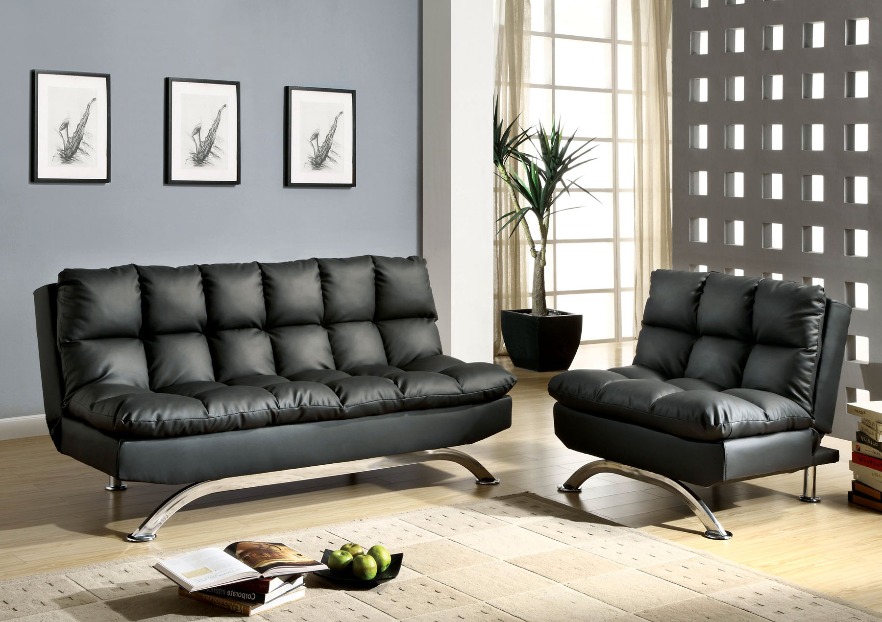 Aristo Ii Futon Sofa Cm2906bk By Import Direct Furniture Expo Outlet