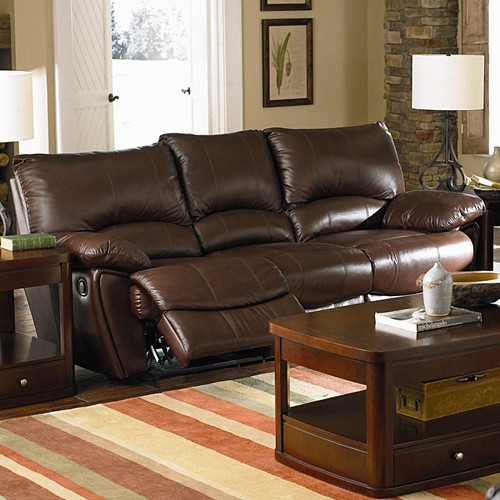 Clifford Collection Leather Double Reclining Sofa By