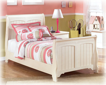 Cottage Retreat Collection Twin Sleigh Bed Ashley Furniture Expo Outlet