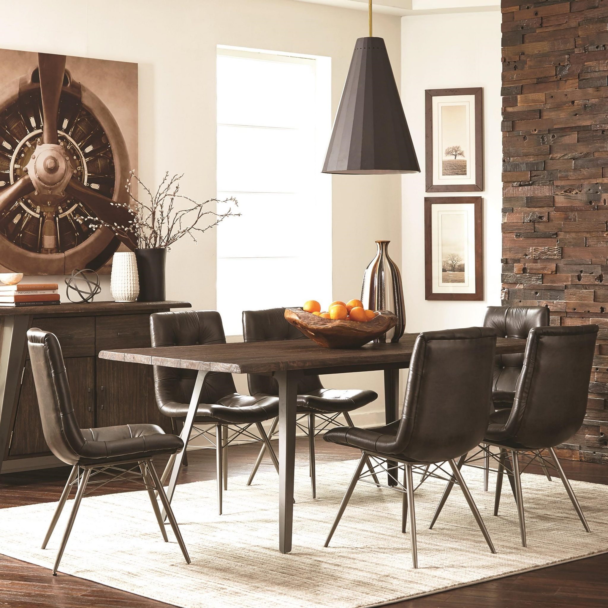 Fremont Industrial Dining Set 5 Pc By Coaster Furniture Expo Outlet