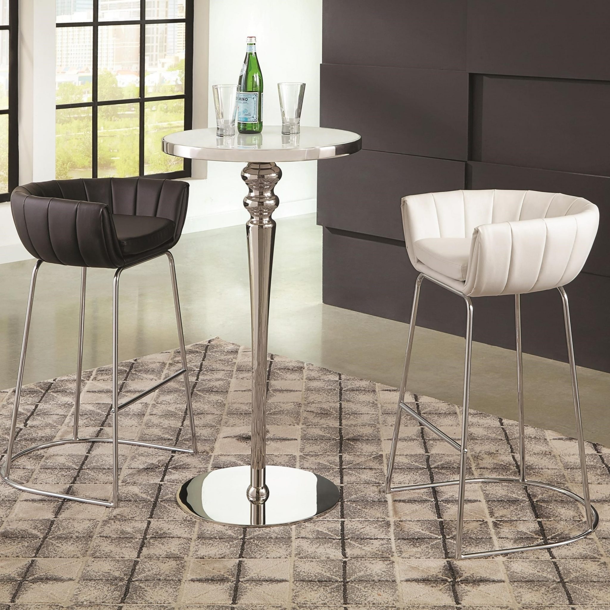 Dixon Contemporary Bar Table And Stool Set 3 Pc S By Coaster Furniture Expo Outlet